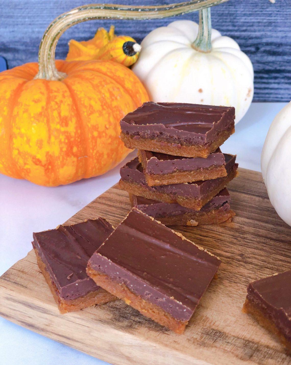paleo pumpkin peanut butter bars