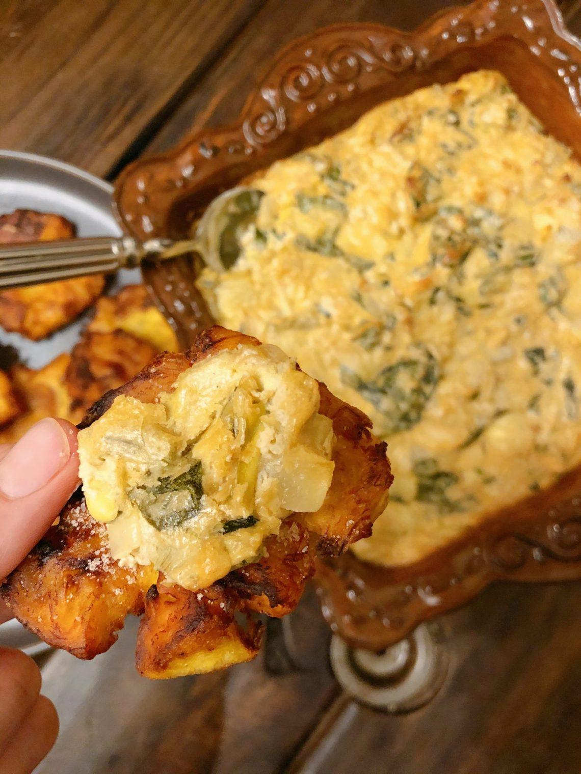 Paleo Vegan Artichoke Spinach Dip