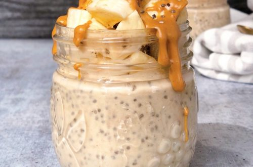 Overnight peanut butter banana chia pudding