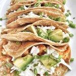 Buffalo Chicken Tacos + Yogurt Ranch Slaw