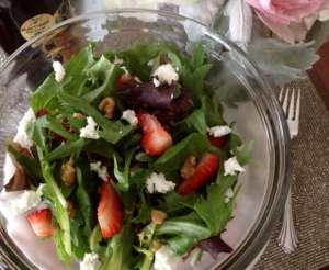 {Recipe Redux} Strawberry & Goat Cheese Salad