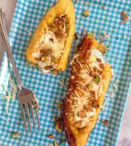 Roasted Plantain Boats