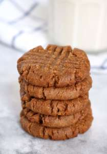 Brown Sugar-Cinnamon PB Cookies {vegan}