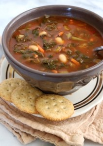 Crockpot Vegetable & White Bean Soup | The Nutrition Adventure