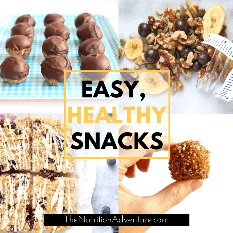 Easy, Healthy Snacks | The Nutrition Adventure