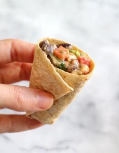 Mini Hummus Black Bean Burritos