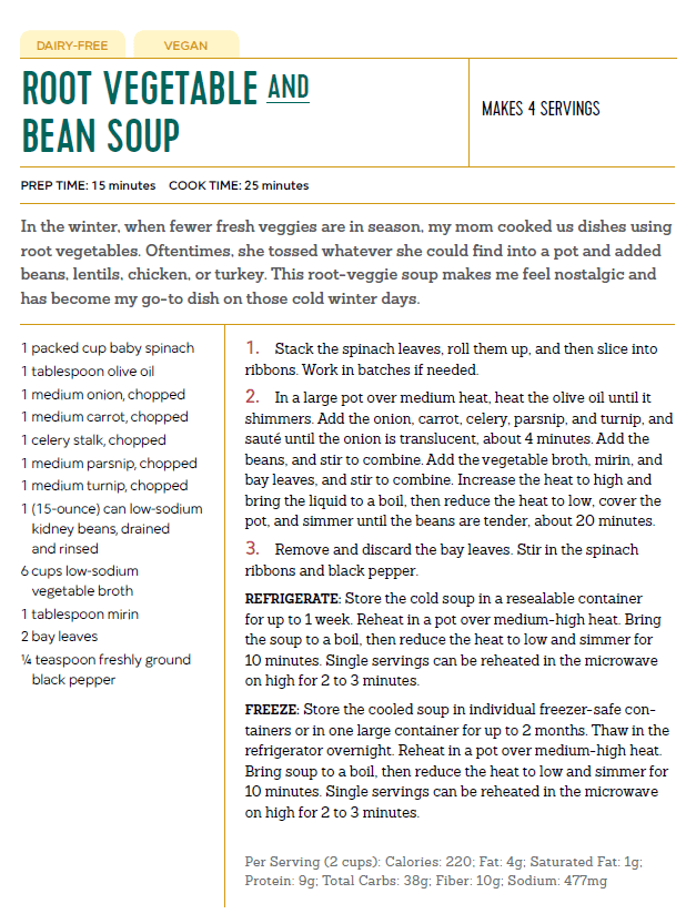 Root Vegetable Bean Soup, The Healthy Meal Prep Cookbook | The Nutrition Adventure