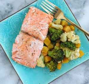 Sheet Pan Salmon & Vegetables