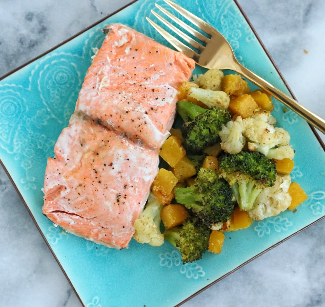 Sheet Pan Salmon & Vegetables | The Nutrition Adventure