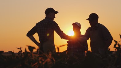 Dr. Schmidt worked with his father on the family farm and learned a lot about mother nature.