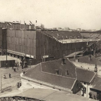 Wooden Stadium for the Slet in Belgrade