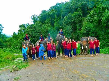 Group photo at elephant orphange.