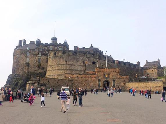 The Edinburgh Castle.