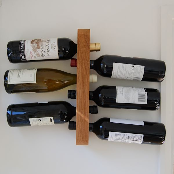 6 Bottle Wooden Wine Rack Personalised Wooden Wine Rack | 6 Bottle | The Oak