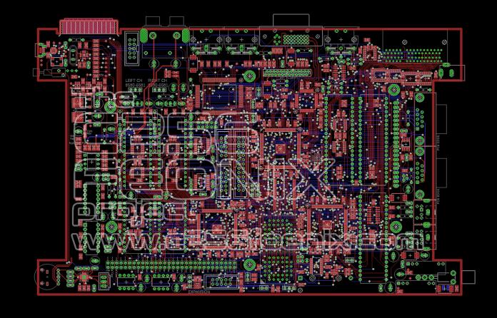C256 FOENIX PCB Routing 90 Percent