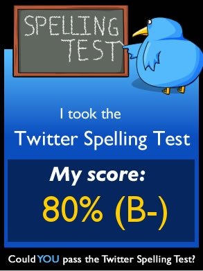 The Twitter Spelling Test