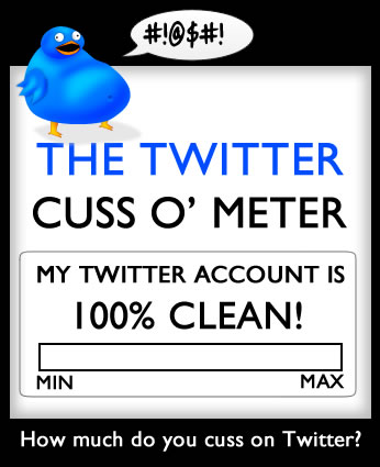 How much do you cuss on Twitter?