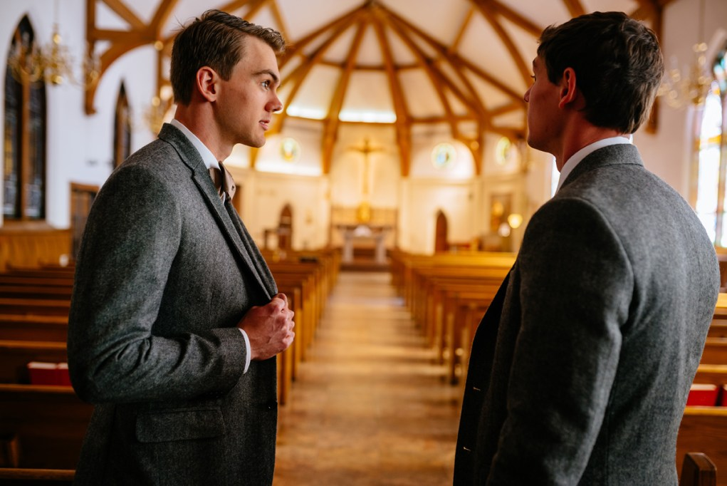 huntington wv winter wedding church ceremony