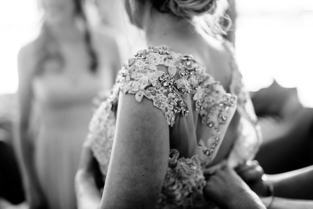 wv winter wedding beaded dress detail