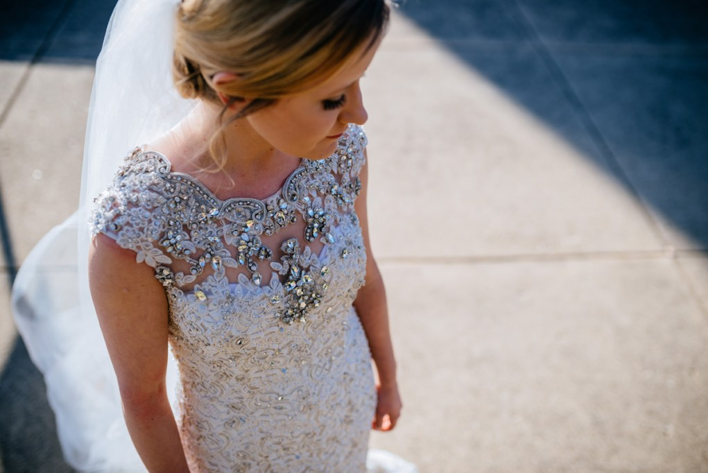 wv winter wedding huntington beaded dress detail