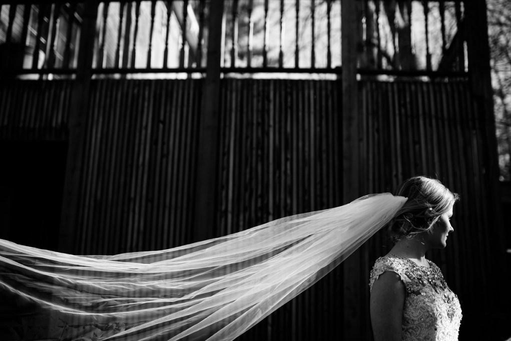 wv winter wedding cathedral veil detail