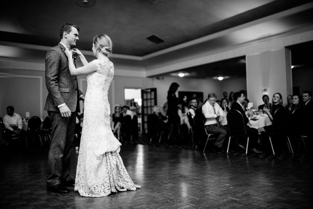 first dance huntington wv winter wedding