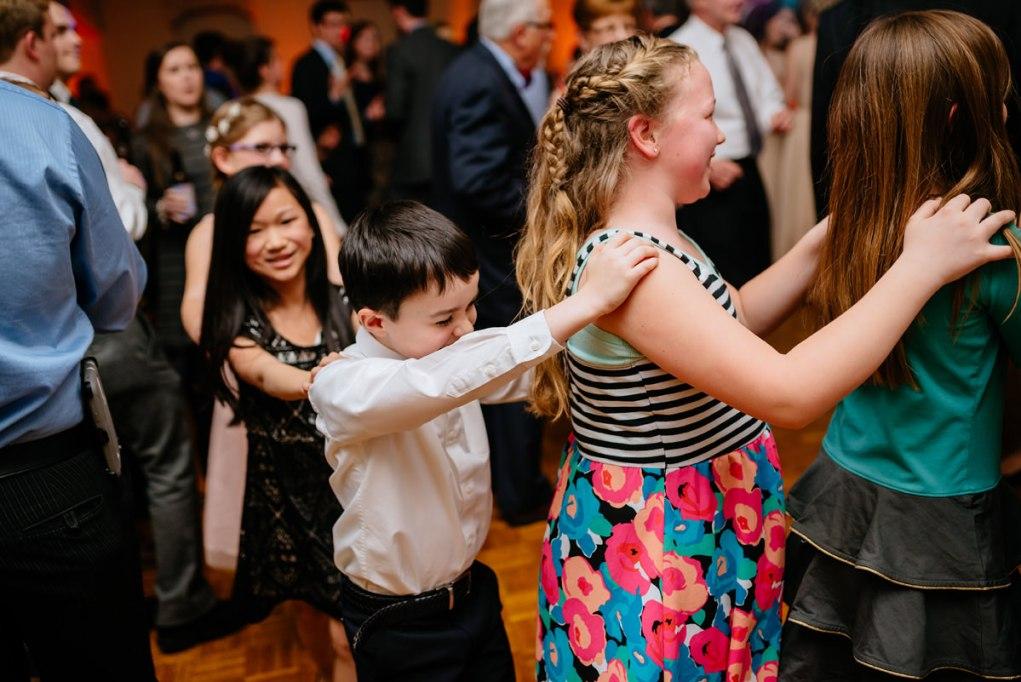 wv winter wedding reception dancing