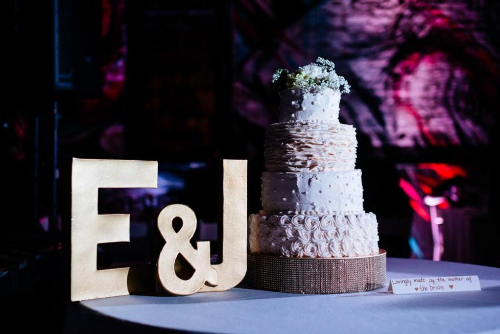 homemade wedding cake at blind whino
