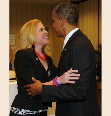 Kristin Oblander and President Obama