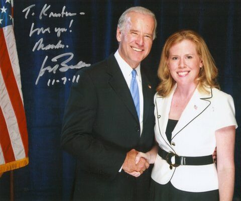 Kristen Oblander and Vice President Joe Biden