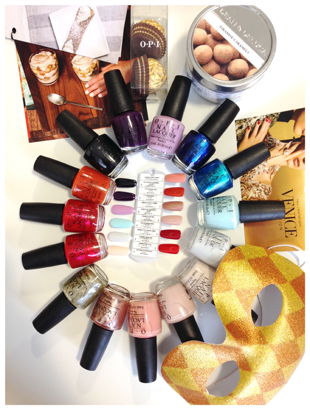 OPI Venice Collection contents