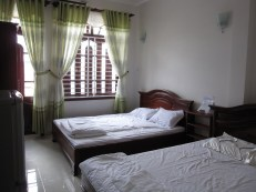 Double Bed Room at Diep Anh Guesthouse (note this is after we slept in the beds)