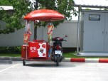 This sidecar sells ice cream! It's almost better than my sidecar!