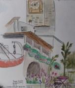 My sketch of Piazza Vecchia, Bergamo