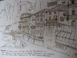 Eric's sketch of Varenna- not yet colored