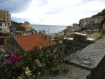 View looking down at Riomaggiore from the upper part of town