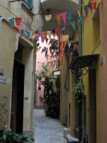 When we were walking around Vernazza we came across the vestiges of an afternoon party...