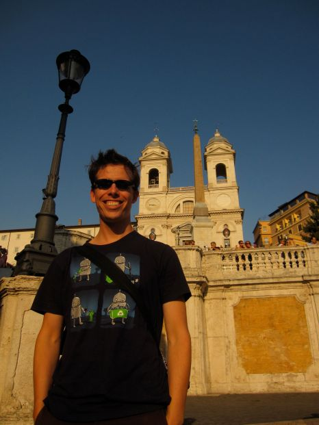 Eric on the Spanish Steps
