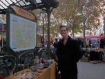 There was a Flea Market going on in Place des Abbesses, we took our time exploring and enjoying.
