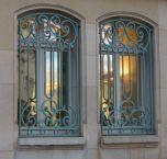 Seafoam green window grates