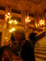 Our guide at Opera Garnier, the funniest part was when she trash talked the other Opera house in Paris because it was only built in the 80's, rather than 1850's like this one.
