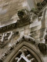 This gargoyle had plants growing out of it's head. Teehee.