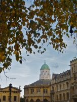 A view of Christopher Wren's Sheldonian Theatre.