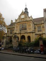 A gorgeous old building and big pile of bikes. You know you're in a university town now.