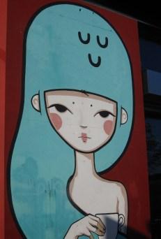 Graffiti outside coffee shop
