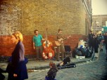 Musicians at Columbia Road Flower Market