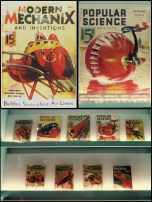 """Highlights of the old Popular Science and Modern Mechanix magazines with retro futuristic visions of travel in """"the future"""""""
