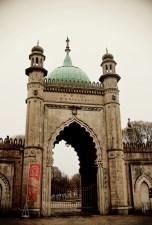An entrance gate at the Royal Pavilion