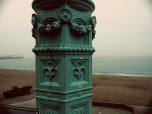 I loved these old seafoam street lamps.