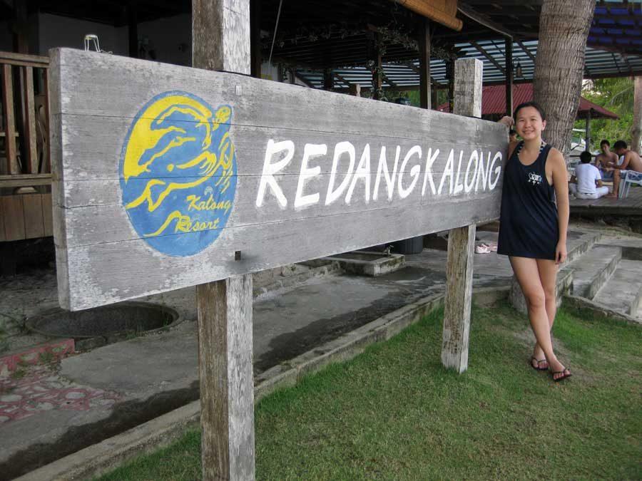 Redang Kalong Resort Sign